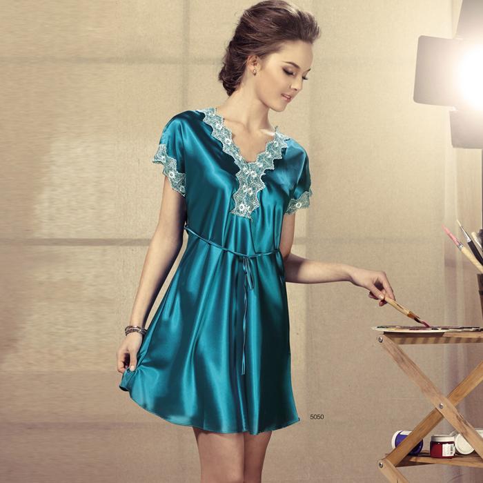 Женские ночные сорочки и Рубашки OEM 2015 v satin nightshirt 007 ночные сорочки you