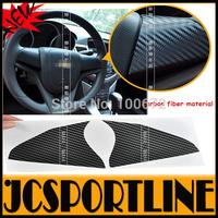 Free Shipping 2PCS/SET carbon fiber steering wheel Cover Sticker ,Auto car interior trim For chevrolet cruze 09-14
