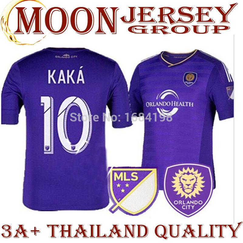 New Orlando City 2015 Soccer jersey Soccer jersey 14 15 Home purple football shirt kit KAKA 10 GERRARD Major League Soccer jerse(China (Mainland))
