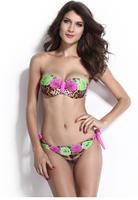 Roses and Leopard Print Sexy Bikini LC40992