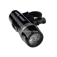 Black Bike Bicycle Front Head Light Torch Lamp 5 LED Power Beam