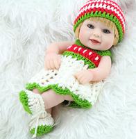 Fashion  Kids Toy  11inch  Realistic Full Vinyl  Mini Reborn Girl  Dolls