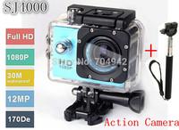 Original SJ4000 Action Camera Diving 30M Waterproof 1080P Full HD Helmet Camera Underwater Sports DV +  Monopod