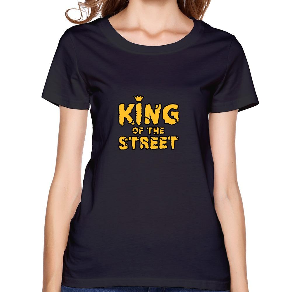king of the street dress lady swag organic cotton t shirts Retro girl dress(China (Mainland))