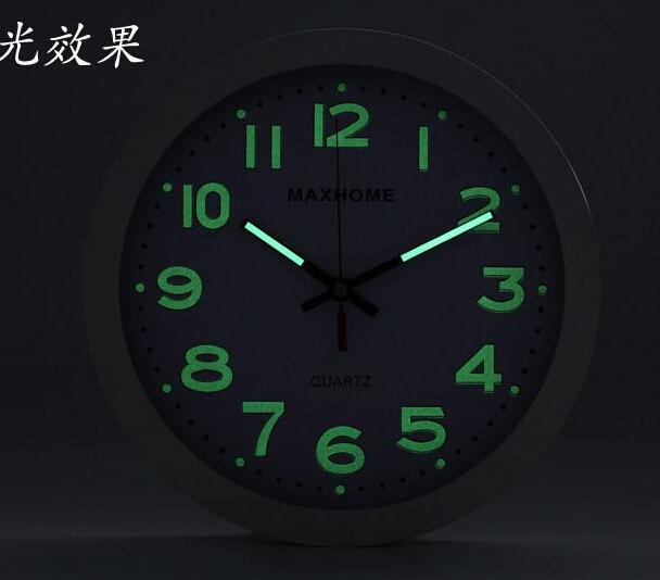 Home Decor Wall Clock Modern Design Silent Luminova Wall Clock Digital Quartz simple plastic Glass kitchen Wall Clock V9(China (Mainland))