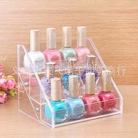 12 bottles of nail polish frame, contact lens medicine bottle display, goods display shelf