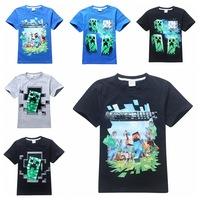 Retail!!! 2015 new Boys kids T-shirt Short Sleeve Cotton Children's Clothes Summer T Shirts