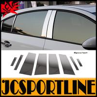 8pcs/set  Stainless Steel Car window B Pillar rear column Sticker for chevrolet(fit cruze 2009-2014)
