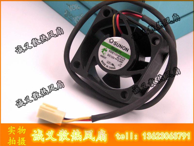 Free Shipping Original Sunon KDE1204PKV3 4020 40X40X20 DC 12V 0.40W server inverter cooling fan(China (Mainland))