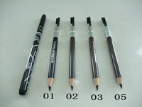Free HK via POST(12pcs/lot)Fashion Design Black Brown Eyebrow Pencil With Brush HELLO KITTY Waterproof Make Up pencil eyeliner