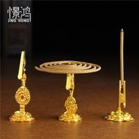 Lotus flower frame Lotus fragrance clip aloes sandalwood lie fragrant incense coil joss stick