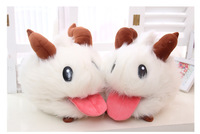 "Hot Sale 2015 Baby Toy Anime Cartoon LOL Poro Rabbit Plush Toys Pokemon Plush Soft Stuffed Dolls 9"" 25cm*20cm Free Shipping"