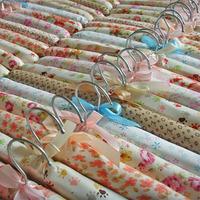 2015 Sale Hanger Loop Satin Wooden Laundry Rack Clothes Hanger Support Brace Sponge Cloth Hanging Hook Wholesale free Shipping