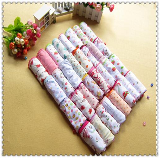 10pcs/lot 2015 New Baby Girls 100%Cotton girls underwear Children kids underwear Briefs Kids Cute Pantie(China (Mainland))