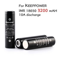2pcs/lot Original 18650 3.7V 3200mAh For Keeppower IMR 18650 rechargeable high drain battery,max 10A pulse 20A discharge