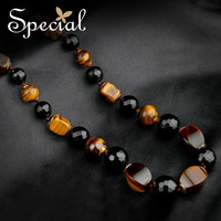 Special Spring New Arrival Fashion Necklaces & Pendants Natural Tiger Eye Stone Free Shipping Gifts For Girls Women XL150201
