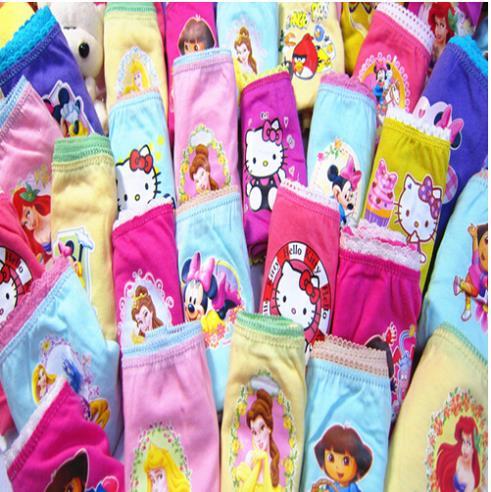 2014 New girls underwear 10pcs/lot pack underwear cotton wear calcinha infantil baby clothing(China (Mainland))