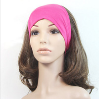 4.3inch Women Wide Yoga Headband Stretch Hairband Elastic Hair Band Turban Gym Out