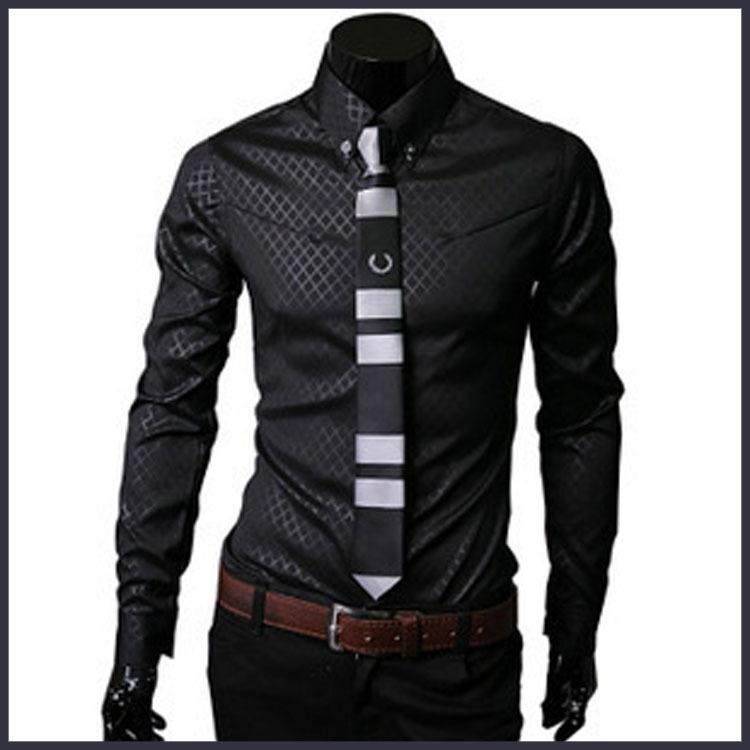 2015 Plus size brand men's social shirt slim fit long sleeve mens dress shirts designer social masculina homme 5XL high quality(China (Mainland))