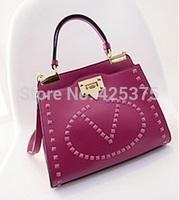 Spring 2015 new style simple fashion rivets bag handbag inclined shoulder bag