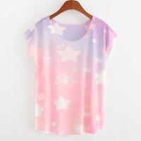 2015 Women Tops O-neck Casual Woolen Short Appliques Regular Print Regular Natural Color T-shirts Blusas Femininas