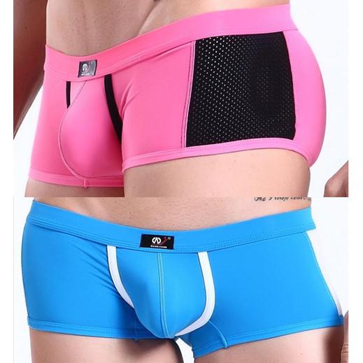 4pcs mens boxer underwear sexy hot lot WJ brand tight designer belt panties penis yoga wear discount sport mesh gay wear(China (Mainland))