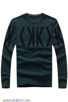 Autumn-Winter Ropa Hombre Fashion Male English Letter Knit 2015 High Quality Casual Long Sleeve Sweater Men Pullovers LC13009
