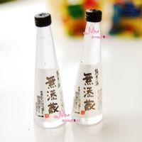 1:12 Dollhouse Miniature 2PCS Plastic Drinks BOTTLE Japanese Wine Re-ment food