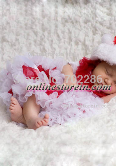 Baby clothing newborn tutu pettiskirt red white Christmas clothes for baby(China (Mainland))