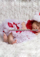 Baby clothing newborn tutu pettiskirt red white Christmas clothes for baby