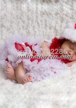 Baby clothing newborn tutu pettiskirt red white Christmas clothes for baby(China (Mainland))