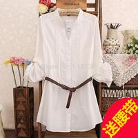 Plus Size 3XL Blusas women Tops Spring Summer  Women Cloth Long Sleeve 100% Cotton  Women Blouses Solid Blouse Shirt  femininas