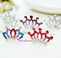 2015 Tiara Time-limited Hot Sale Clips For Hair South Korean Children Accessories Crown Color Jewelry Wholesale Headdress Comb