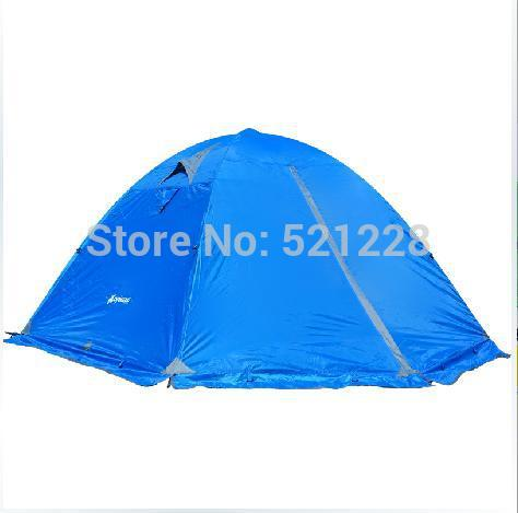2015 Hot sale 2 persons couple double layer 2 doors outdoor camping rain proof anti storm beach fishing hiking tent on sale(China (Mainland))