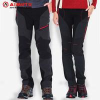 AIMUTU Korea outdoor charge men's fleece pants winter mountain ski pants  women  couples  pants free  shipping