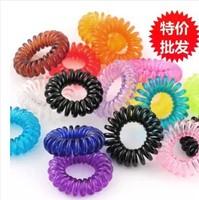 Cute Candy color Telephone line Hair bands Korean hair accessories small Hair rope