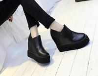2015 women's spring shoes casual platform elevator platform high-heeled wedges round toe women's single shoes