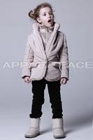 2015 winter female child clothing cotton-padded jacket wadded jacket thickening zipper stand collar sweater brand girls jackets