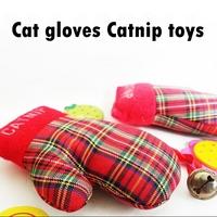 Pet toy cat Catnip toys cotton cloth plaid gloves bell cat mint toy vocalization cat