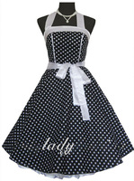 2015 Polka dots Bridesmaid /Party /Evening Cocktail Dress #109 4/6/8/10 in stock
