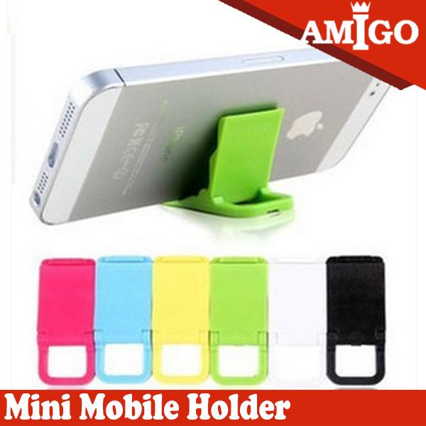 универсальный держатель складывания базовый пластиковые мини-телефон
