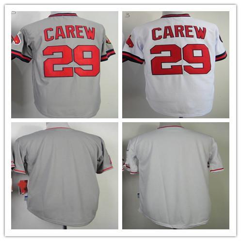 baseball jersey #29 Rod Carew Jerseys,cheap blank jersey wholesale in china(China (Mainland))