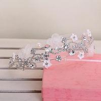Flower Crown Hair Band Crystal Headband Rhinestone Headpiece Hair Jewelry Wedding Hair Accessories Tiara Noiva WIGO0416