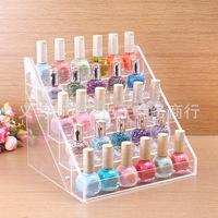 30 bottles of nail polish frame, contact lens medicine bottle display, goods display shelf