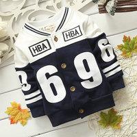 4pcs/lot  wholesale letter kids jacket boy clothes outerwear ,casaul coat children clothes cardigan
