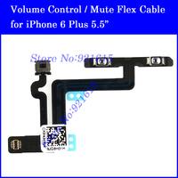 10Pcs Original Brand Volume Control Button Mute Switch Flex Ribbon Cable for iPhone 6 Plus Replacement Repair Parts Wholesale