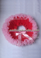 Baby tutu pettiskirt chiffon soft skirt red pink baby photo prop