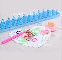 DIY elastic parent-child rainbow color box set can be spliced weaver