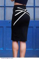 saias femininas Casual Sporty Navy Midi Bodycon Pencil short Skirt with Straps Accent faldas LC71069 dear-lover