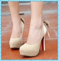 female fashion bowtie platform women shoes pumps 2015 spring autumn ladies shoes women pumps sexy red bottom high heels C908
